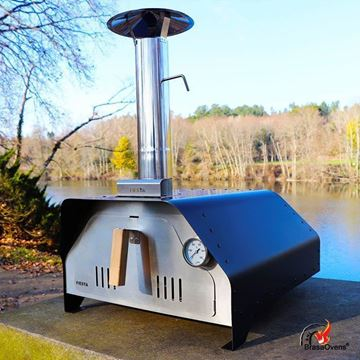 portable pizza oven Fiesta black